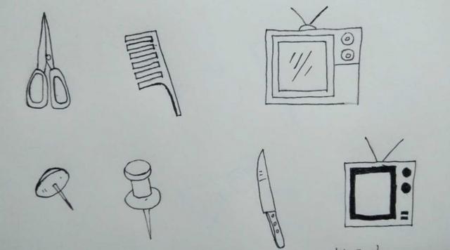 简笔画.如何画好硬的物品