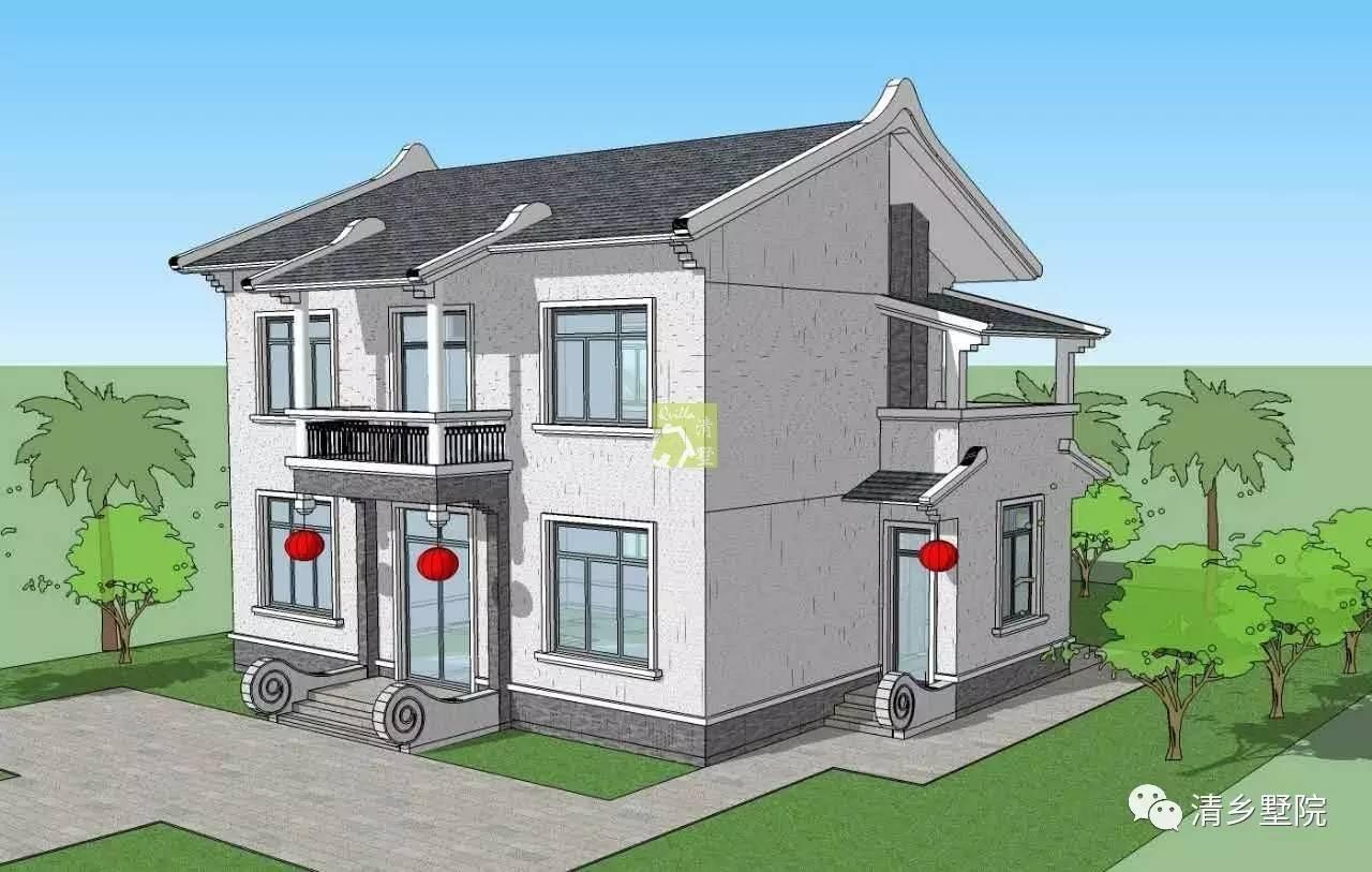 80×10.50米原创二层自建别墅设计vt024图片