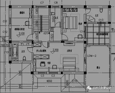 农村别墅设计图,四平八稳,14x16米简单接地气!
