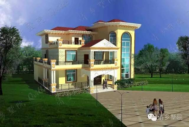 80×10.50米原创二层自建别墅设计vt024