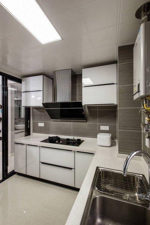 108平米三室兩廳兩衛現代簡約風格裝修實景圖——廚房