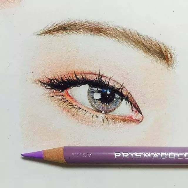 彩铅手绘真人鼻子