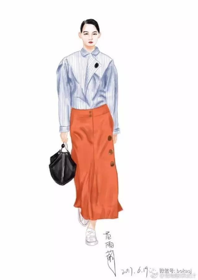 手绘服装画:服装老板,我有9款手绘图,你喜欢吗?