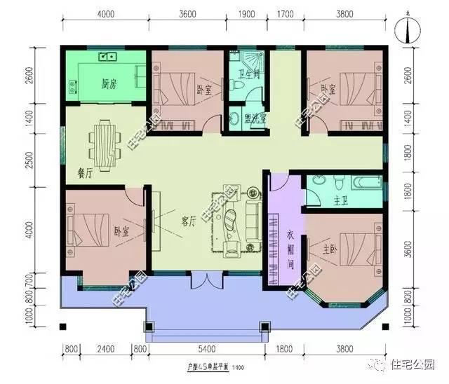 6套北方农村自建房户型 含平面图-户型1