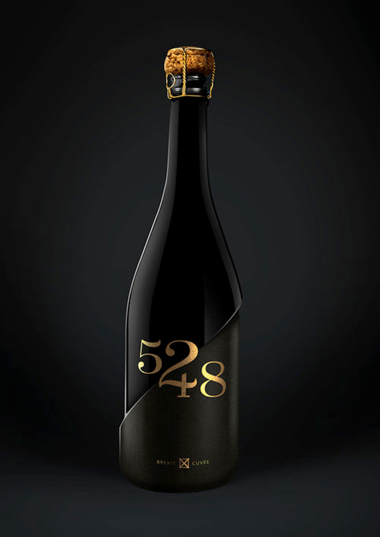 红酒瓶身设计矢量图