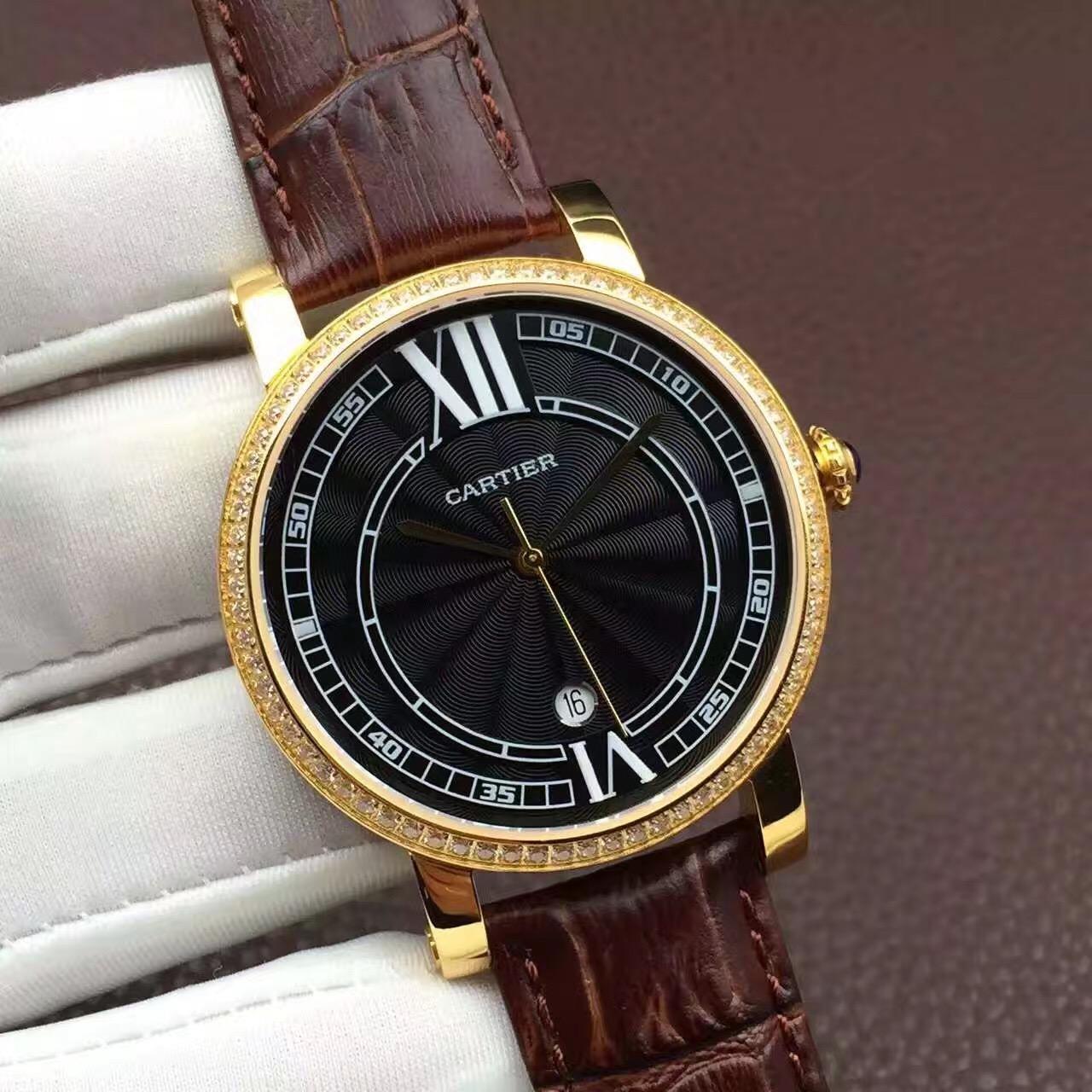 新款卡地亚机械腕表,简约大气,男神必备