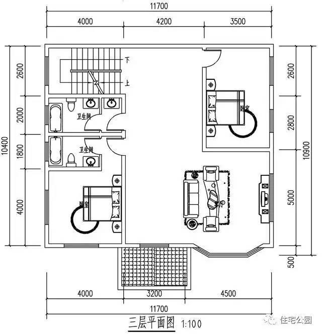 11.7x10米3层半自建房,独栋,双拼都好看,实拍!