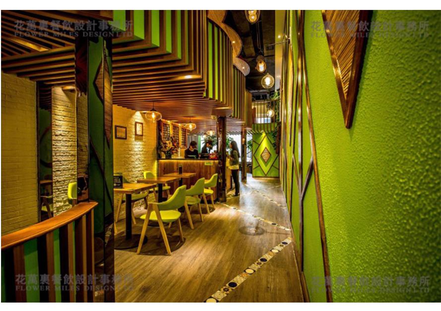 花万里餐饮设计 时尚小清新,餐饮界的一股清流