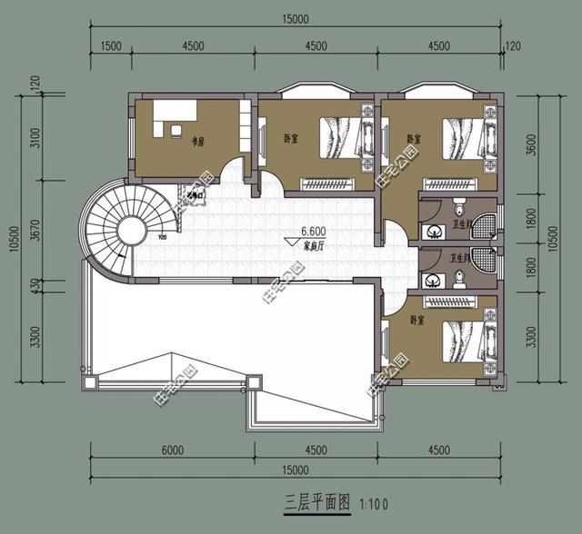 公众号:住宅公园,500套别墅图纸,别墅庭院设计施工!