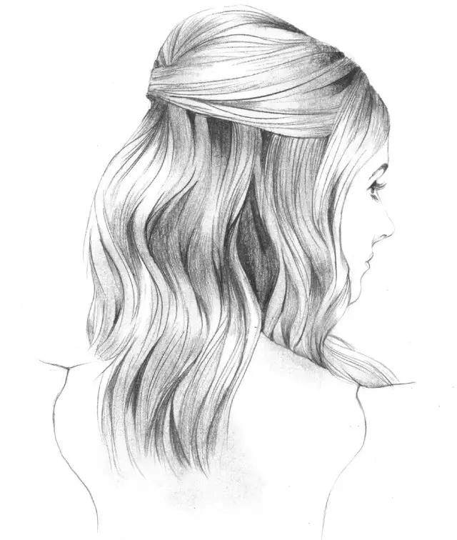 动漫头发简笔画