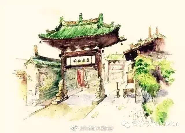 陕西韩城画家手绘地图 历时1095天走访72道古巷