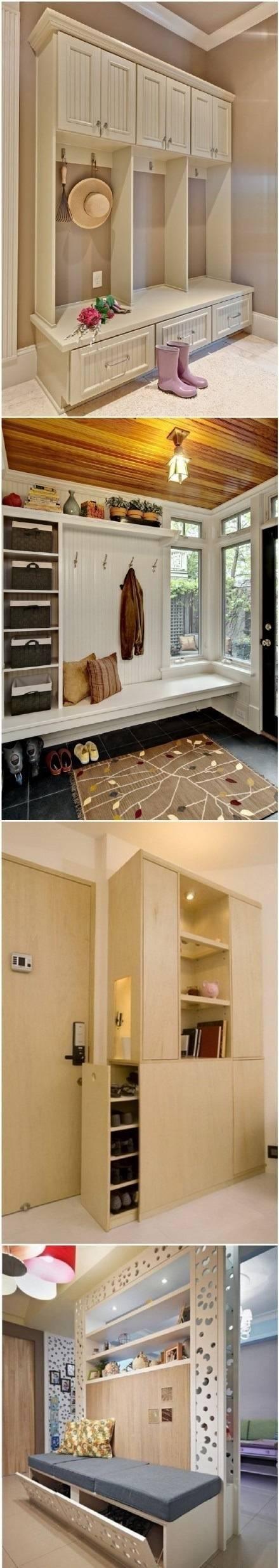 门厅鞋柜装修效果图,入户玄关是很关键的,在入户处总是需要收纳柜的