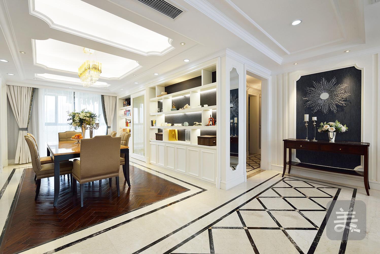 大连新房装修-三室两厅轻奢简约美式风格图片