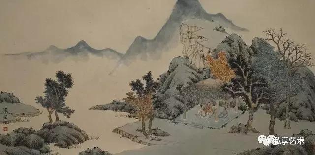 """""""拼割山水""""是将山水画画在木板上,再将木板锯成条状甚至小块."""
