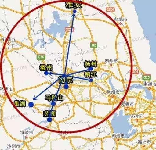 滁州市区手绘地图