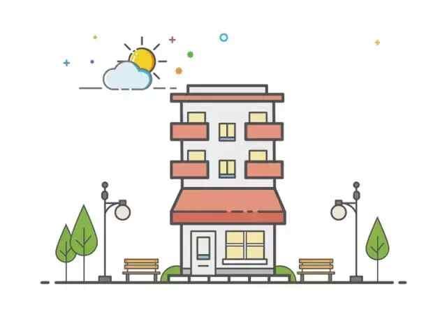 简笔画│现代化的建筑简笔画, 梦幻到美呆了