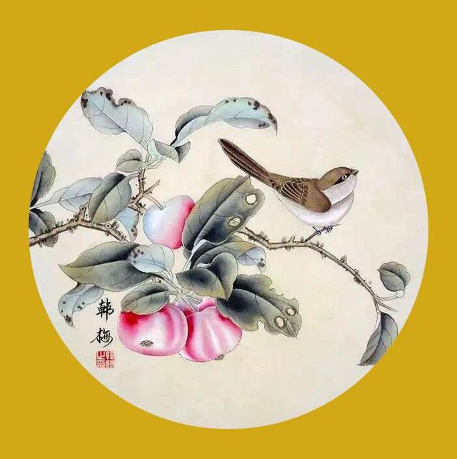 韩梅 68x68cm 工笔人物画 京剧脸谱 返回搜