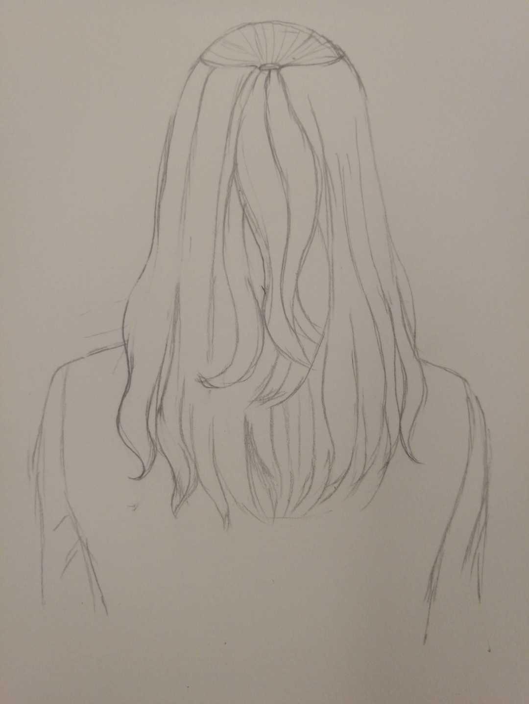零基础小白自学画画成长记 美女发型 四