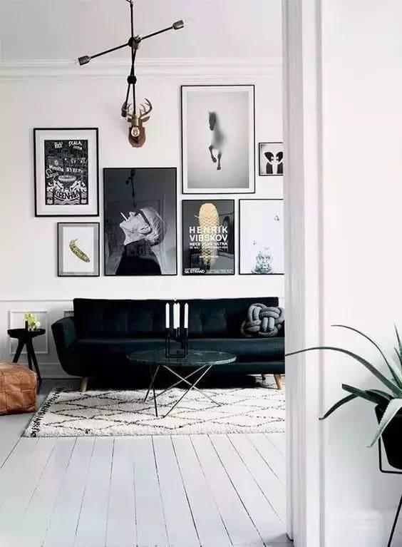 北欧风格的沙发背景墙这样整,实在是太好看了