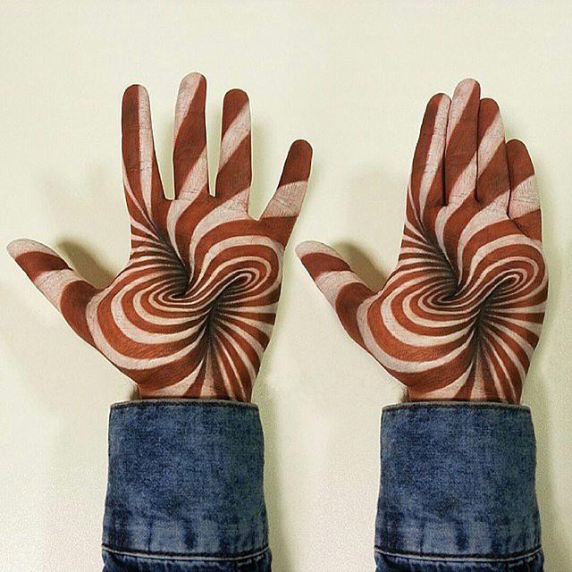 3d画立体铅笔画手掌