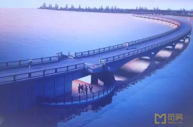 上海最美高架桥 1.47公里横跨淀山湖湖岸线图片