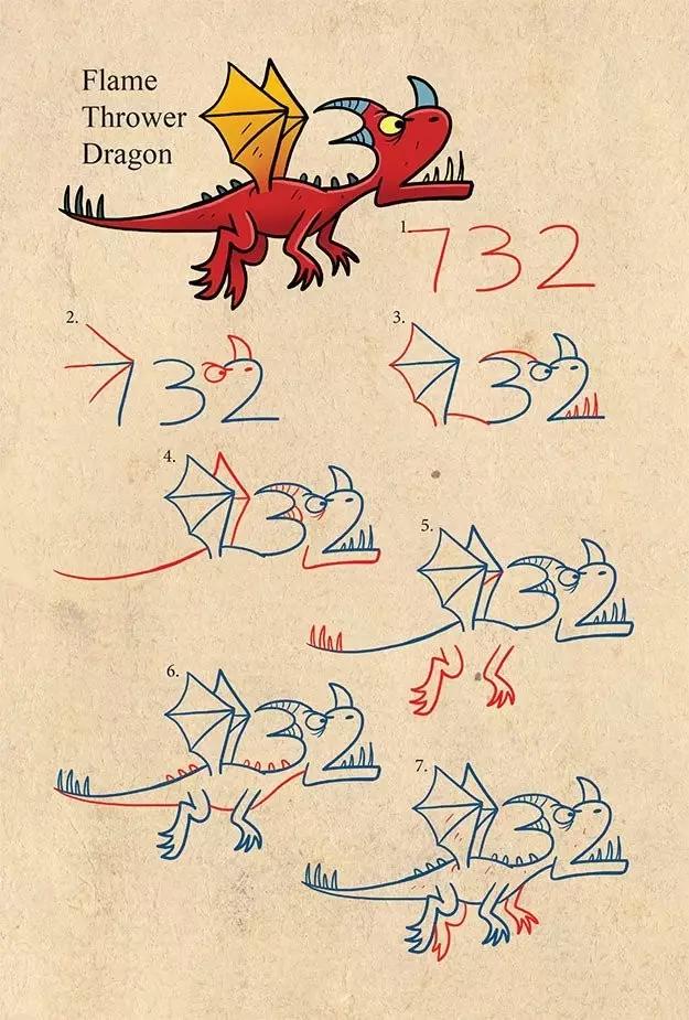 用数字画恐龙和动物,这么有意思果断收藏!