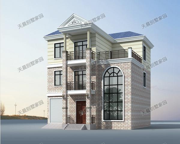 三层别墅设计图,12.4x12米!
