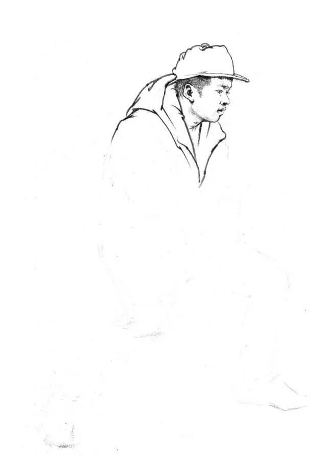 素描速写教程,速写人物的步骤与方法素描人物画法