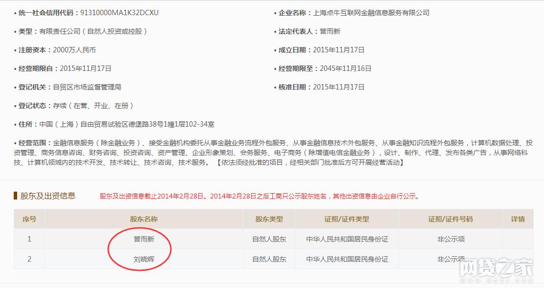 网友爆料点牛金融涉嫌虚假宣传<wbr>股东名单中未发现国资企业