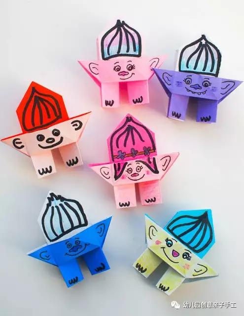 亲子手工之折纸:呆萌可爱的小人偶,人见人爱