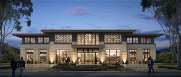 新亚洲风格的东方美学建筑,传承世家礼制风范.十重雅境园林景观,图片