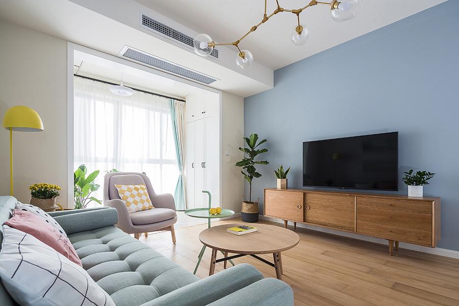 东润泰和90平方米两室两厅装修效果图