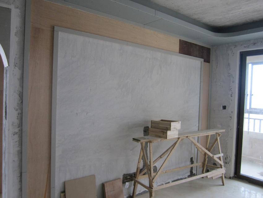 木工电视背景墙施工流程