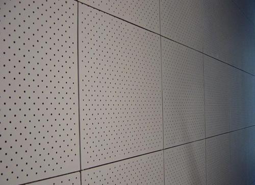 孔木吸音板墙面装饰效果