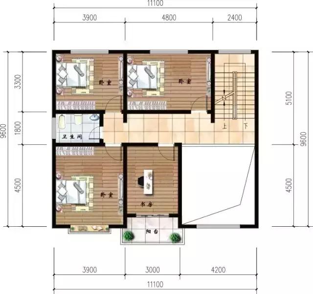 11×9米三层农村别墅,左邻右舍都抢着要盖的户型