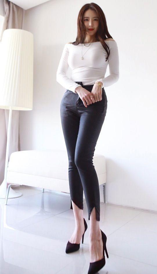紧身裤一上身,女人的魅力都是掩盖不了的