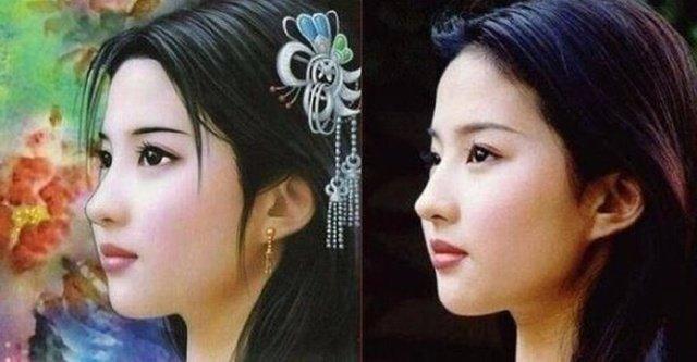 明星古装手绘照,李若彤阿娇刘亦菲范冰冰谁最美