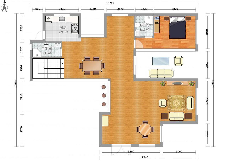 设计图纸/中式农村两层小别墅/新中式小别墅外观/中式仿古别墅/中式
