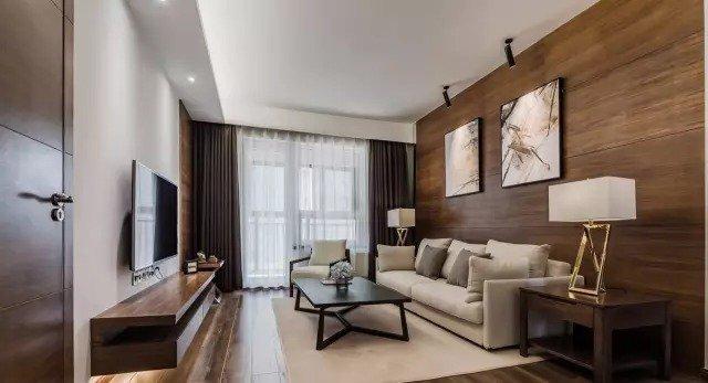 下面请欣赏一套来自武汉木羽设计的作品,木地板上墙的效果真的是非同