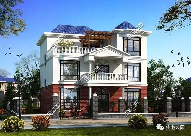 【住宅公园】下面这套欧式二层半小别墅,给公婆在老家建了一栋小洋楼