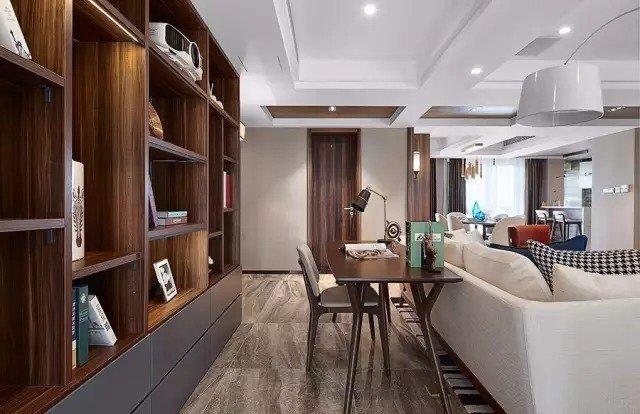 深圳装修127㎡轻奢三室两厅,视野开阔,时尚大气