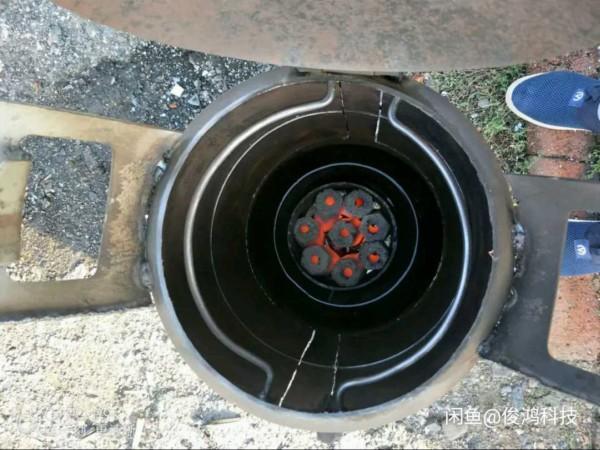 大神科技烤炉用煤气罐排队无烟技巧,民间改成撸羊毛网友图片