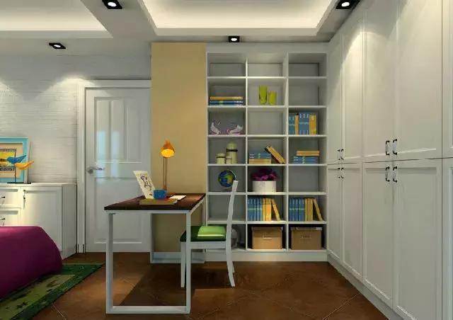 窗边榻榻米与方格书柜组合形成的休闲区能让人能舒适的休息,阅读.