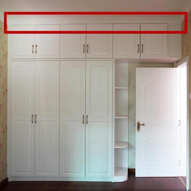 做到顶的衣柜一定要注意某些细节,做到定的话,如果卧室不做吊顶,做