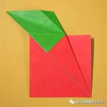幼儿园亲子手工折纸:圆圆的大苹果,医生远离我!