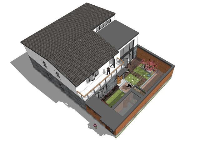 北京密云旧瓦房翻建农村别墅,装修是啥样子吧!图片