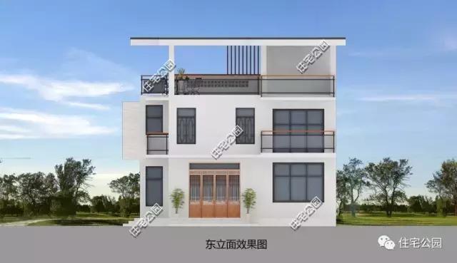 11x11米农村3层别墅,方正户型,现代经济!