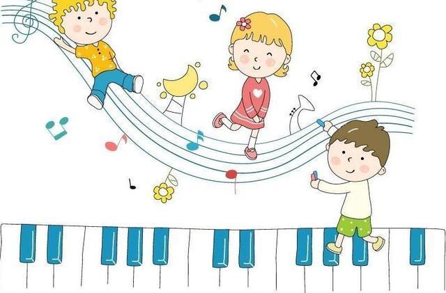 在钢琴上跳舞卡通