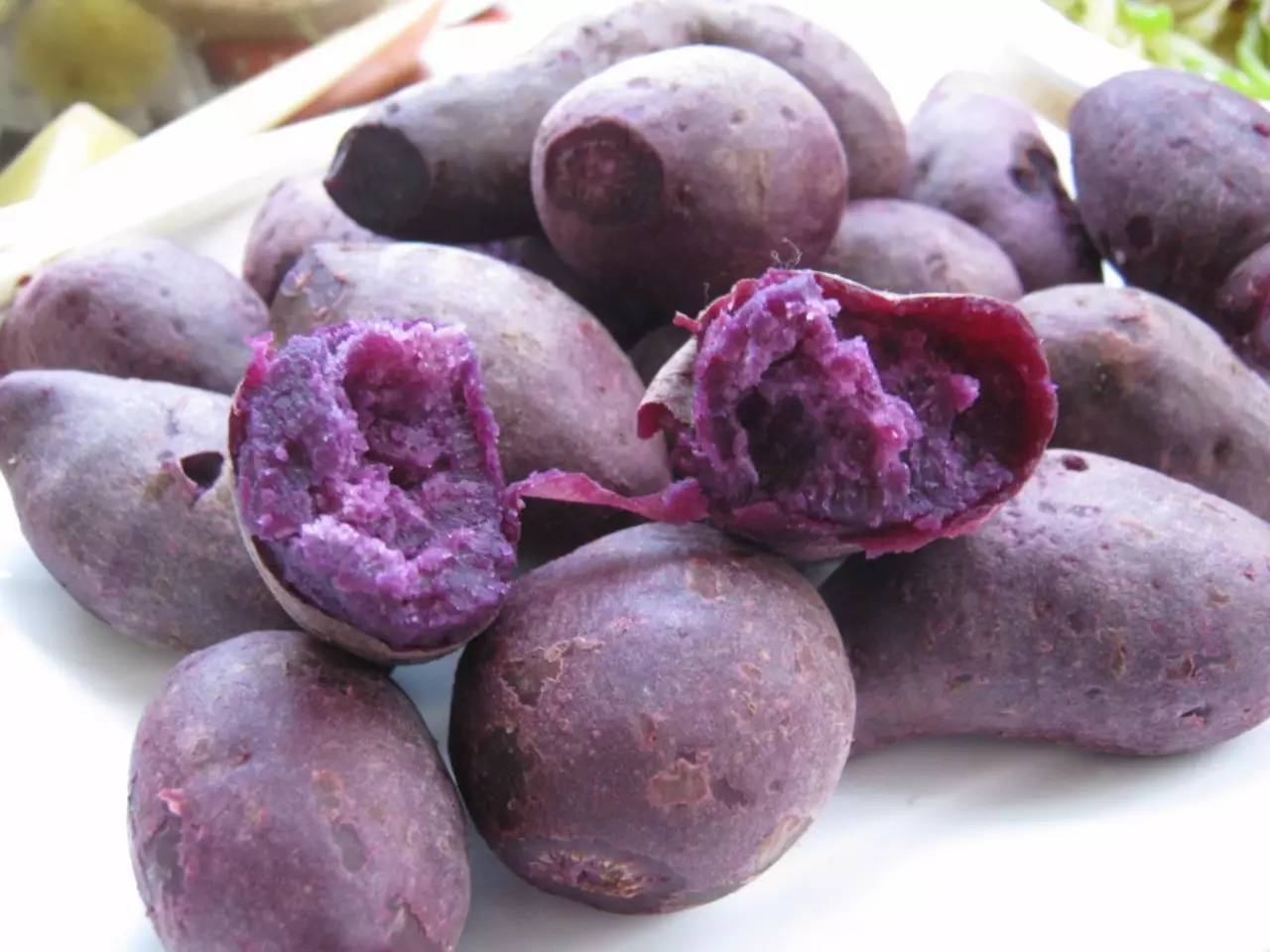 紫薯粥放碱变色正常吗
