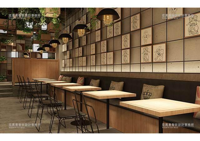 花万里餐厅装修设计效果图=财神记古法粥铺
